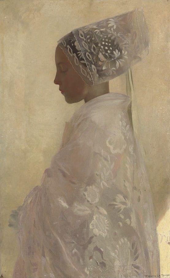 A Maiden in Contemplation, 1898     Gaston La Touche