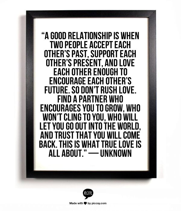 "People That Love Each Other: ""A Good Relationship Is When Two People Accept Each Other"