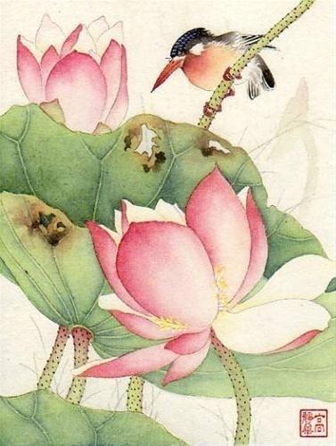 """Summer Heat"" - Original Fine Art for Sale - © Jinghua Gao Dalia"