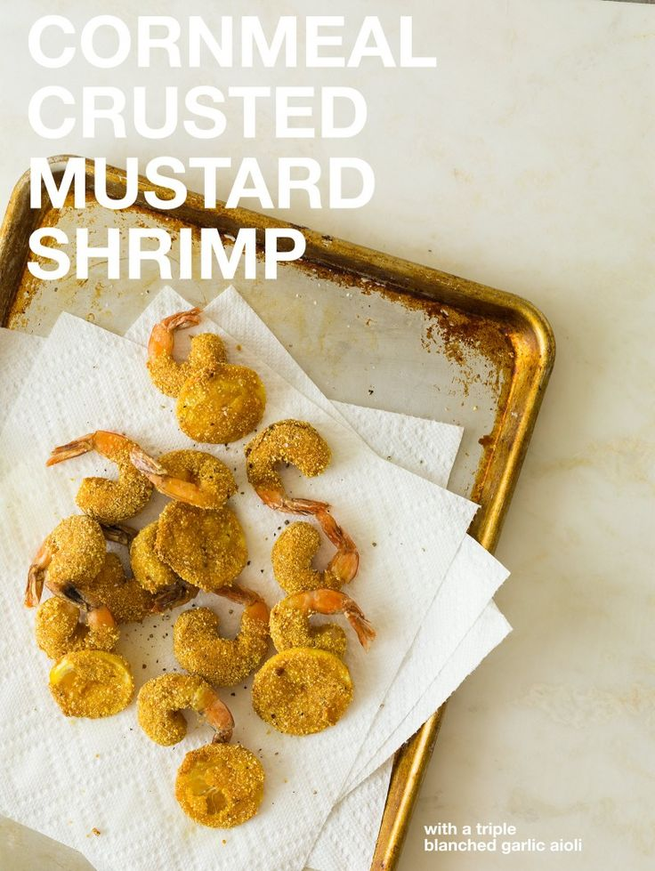 Cornmeal Crusted Mustard Shrimp / Party Food