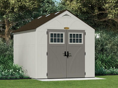 Suncast tremont 8 39 x 10 39 4 1 2 x 7 39 6 3 4 storage for Sheds storage buildings