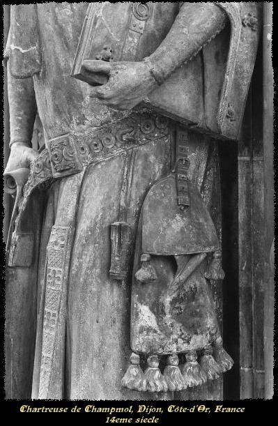 Belt purse. Charteuse de Champmol, Dijon, Cote-d'Or. 14th c.