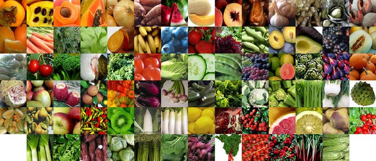 Vegetables and Fruits Nutritional Facts Information