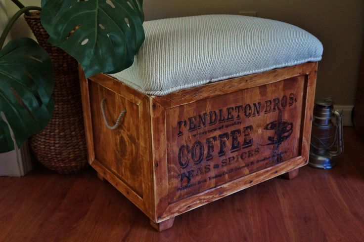 17 Best Ideas About Crate Ottoman On Pinterest Diy Storage Crate Stools And Diy Ottoman