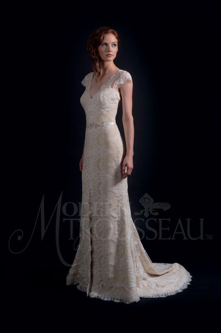 Fit and flare wedding gown - Modern Trousseau Fall 2016 Wedding Dresses | itakeyou.co.uk #weddinggown #weddingdress: