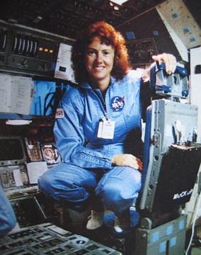Christa McAuliffe, (1948 - 1986) Teacher/astronaut, she died in the explosion of the space shuttle Challenger