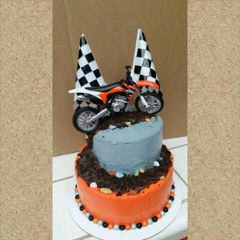 Motorcross baby shower cake