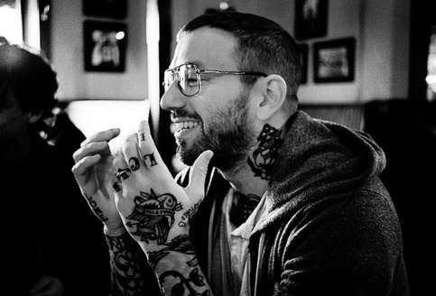 Miss Spectacles: Dallas Green. Guys wearing glasses, hipster guys, Alexisonfire, City and Colour, tattoos