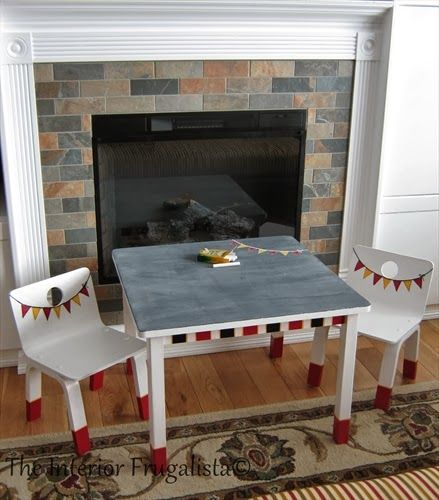 The Round-Up Feature #3 at The Dedicated House.  http://www.interiorfrugalista.com/2014/02/kids-chalkboard-table-thrift-makeover.html