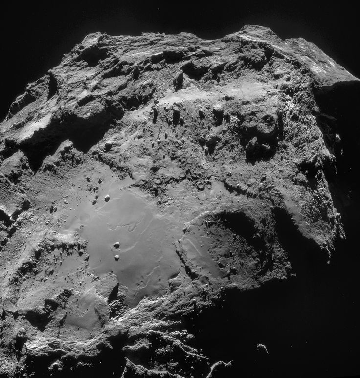 WIRED Space Photo of the Day for December 2014 | WIRED - This four-image mosaic comprises images taken from a distance of 19.4 km from the centre of Comet 67P/Churyumov-Gerasimenko on 14 December. The image resolution is 1.66 m/pixel and the mosaic measures 3.0 x 3.1 km.