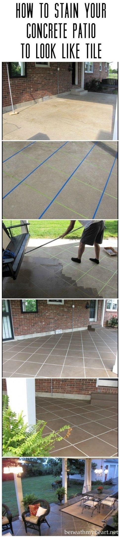Best 25+ Concrete patio stain ideas on Pinterest
