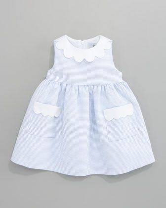 Florence Eiseman Scalloped-Trimmed Striped Dress. I hope it's a girl