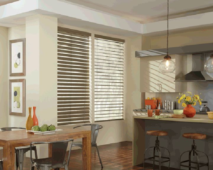 Custom #HunterDouglas #AluminiumBlinds for your kitchen at Elite Interiors. Serving Edmonton, Sherwood Park & Surrounding Areas. #YEG