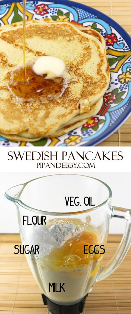 Swedish Pancakes from Grandma Linnea | this recipe is a family favorite...one of our favorite breakfast recipes!