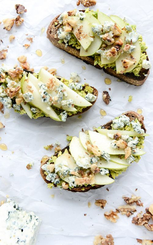 Gorgonzola + Pear Avocado Toast Recipe