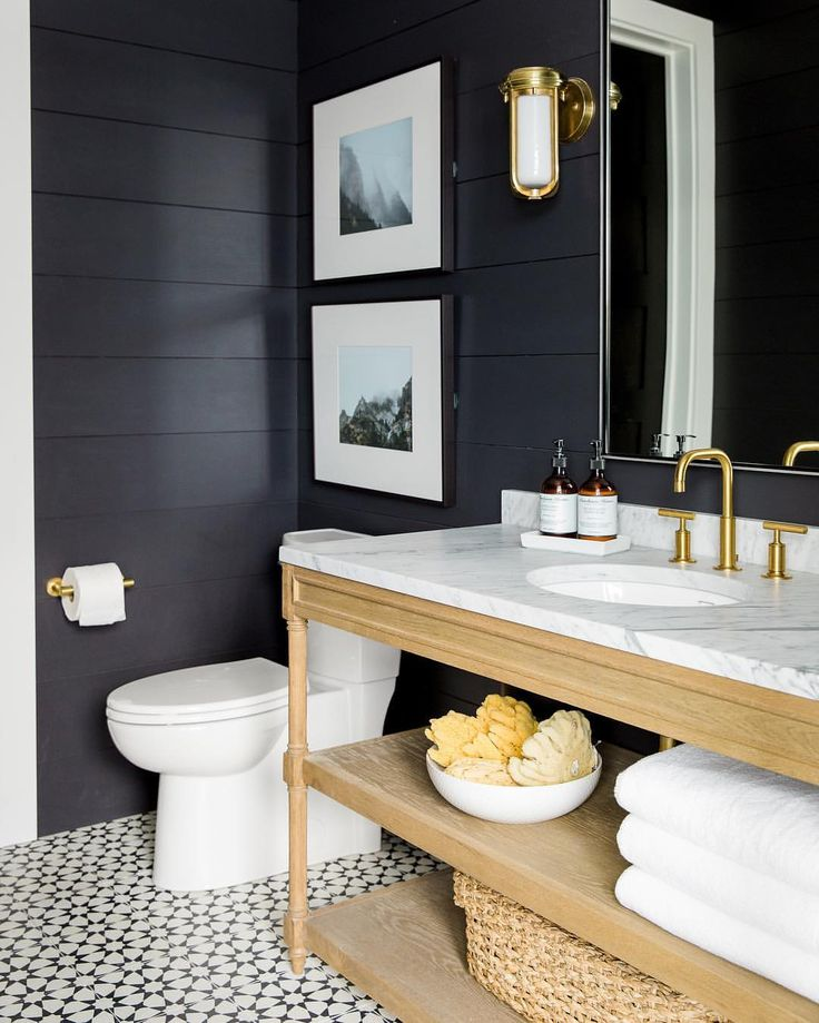"""Studio McGee on Instagram: """"Walls, faucets, tile, lights...we're loving everything matte black right now. Head to the blog to see our top picks! {tap for links}"""""""