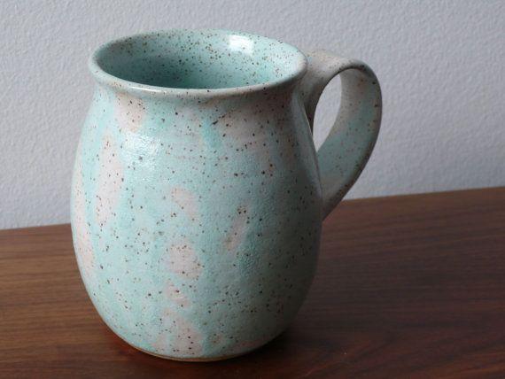 handmade ceramic coffeetea mug wheel thrown