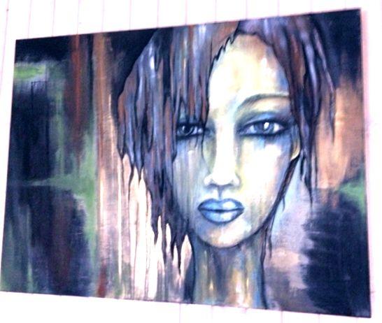 création Marie Poirier format 30x36....médium acrylique....