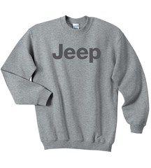 All Things Jeep Crewneck Sweatshirt with Dark Gray Jeep Logo