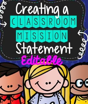 "Creating a classroom mission statement has allowed me to give my students ownership of their goals as a team and has been something that I have been able to refer to often when redirecting! You will find: - Classroom motivational poster on teamwork- A brainstorm circle map on the word ""mission""- Discussion Questions- Explanation of a classroom mission statement- School rules and school wide mission statement recording sheet- Graphic organizer to generate ideas on what to include in a…"