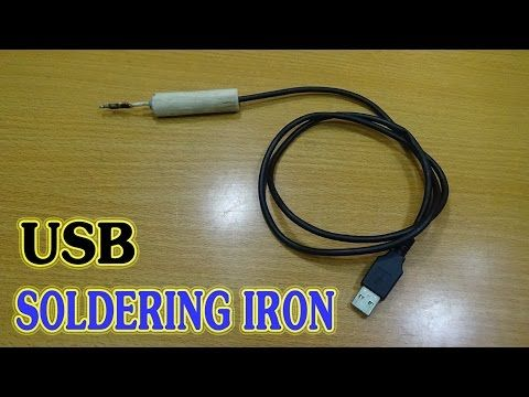 How To make USB Soldering Iron Simple - Port USB 5v- 2A - YouTube