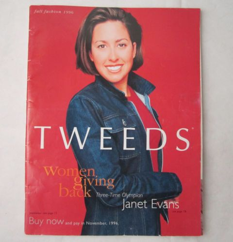 vintage 1996 TWEEDS catalog Gisele Bundchen before nose job Janet Evans Olympian