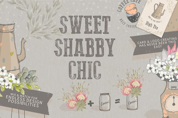 SHABBY CHIC VINTAGE COLLECTION by Ingrid Marais Design on @creativemarket