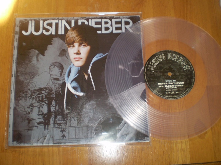"'Pray' w/ 'Never Say Never' 10"" Clear Vinyl Record @JustinBieber"