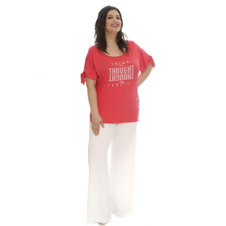 Μπλούζα με τύπωμα Vertice #style #fashion #moda