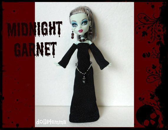 Monster High Doll Clothes  Medieval Goth GOWN  Skull by DOLLS4EMMA
