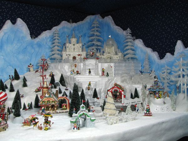 North Pole Village Display made with Carved EPS Foam