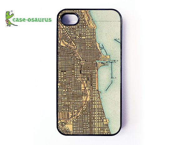 iPhone 4 Case  Vintage Chicago Map cover for iPhone by caseosaurus, $16.99
