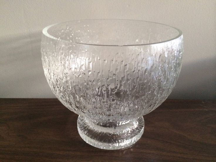 Timo Sarpaneva Kekkerit Crystal Footed Centerpiece Bowl by Moderndesign20 on Etsy