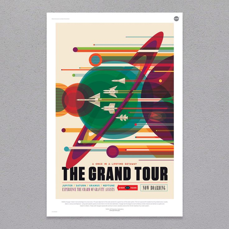 The Grand Tour JPL poster by PrintCityStore on Etsy https://www.etsy.com/listing/293986085/the-grand-tour-jpl-poster