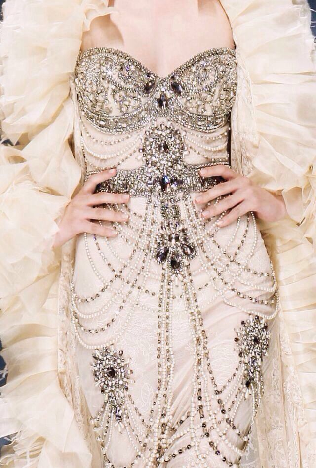 Bring on the 1920s bling! This would make a dazzling evening gown.
