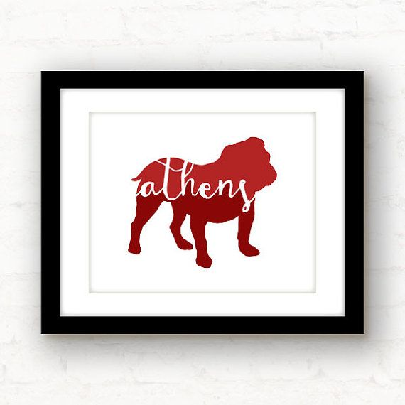 Athens art // Athens GA print // Athens poster by PaperFinchDesign