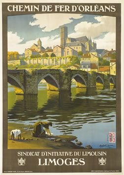 Constant-Duval poster: Limoges - Chemin de Fer D'Orleans. Hangs on my wall.