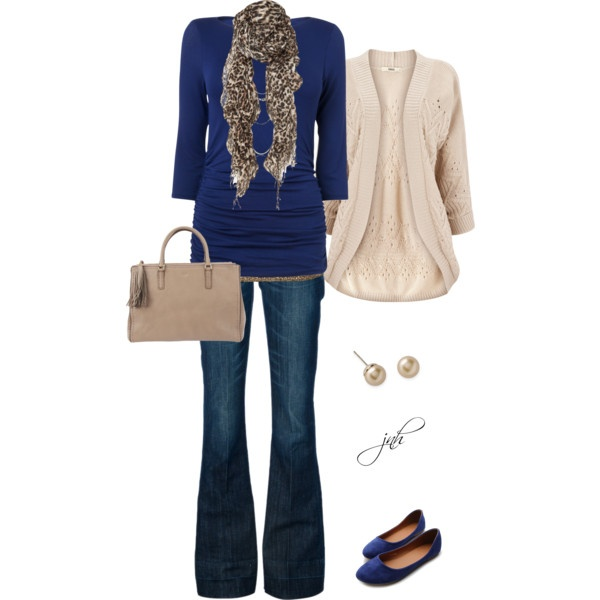 """Cozy Blues"" Casual Fall Outfit Set by Jill Hammel on Polyvore!!!"