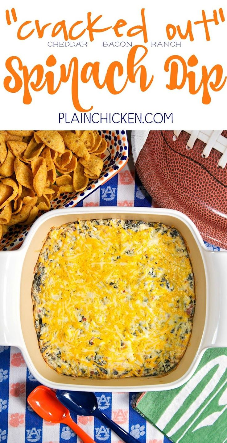 Cracked Out Spinach Dip - the BEST spinach dip EVER! Spinach, cheddar ...