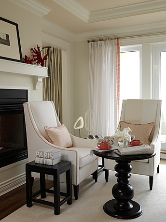 Master Bedroom Sarah Richardson Design Right Angle Chairs With Central Table Could Do Two