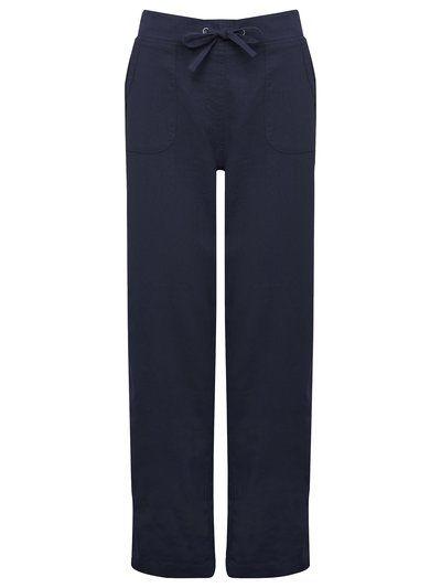 Petite Rib Waist Linen Trousers | Women's Petite Trousers | M