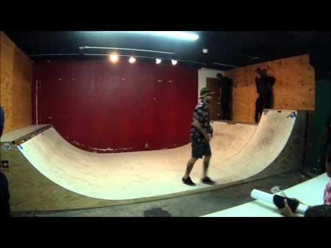 zero team skating a mini halfpipe - YouTube