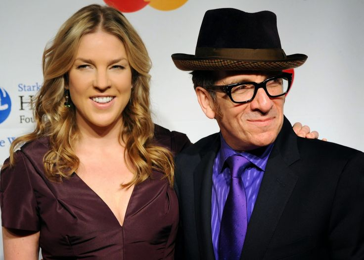 Singer Diana Krall And Her Husband Musician Elvis Costello Arrive At The 2011 MusiCares Person Of Year Tribute On February