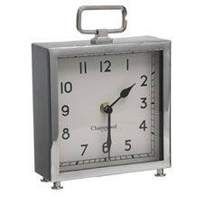 Wilko Square Mantle Clock Silver Coastal Lounge