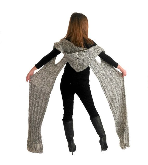 Hey, I found this really awesome Etsy listing at https://www.etsy.com/listing/485928907/flashily-stylish-gray-hooded-scarf
