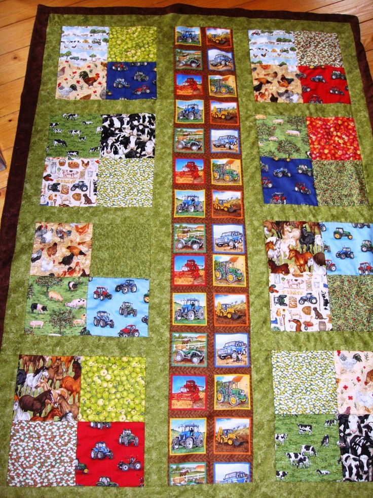 Farmyard Quilt for my nephew Charlie