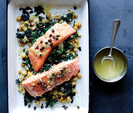 47 best best salmon recipes images on pinterest salmon recipes slow cooked salmon chickpeas and greens forumfinder Choice Image