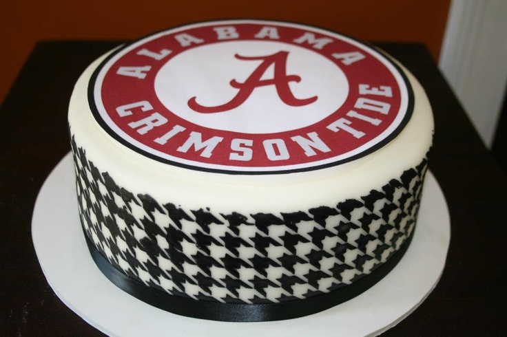 Alabama football cake with herringbone detail
