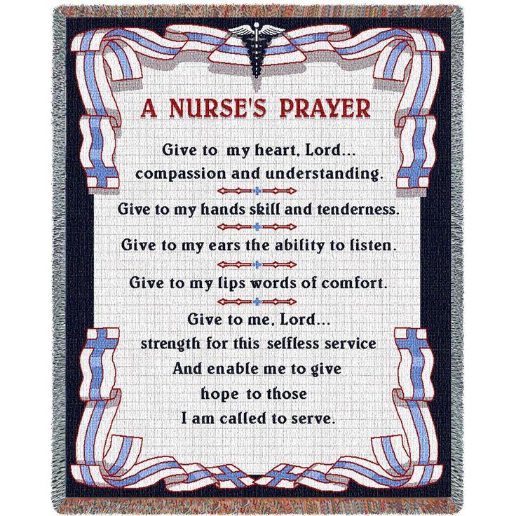 A Nurses Prayer Art Tapestry Throw