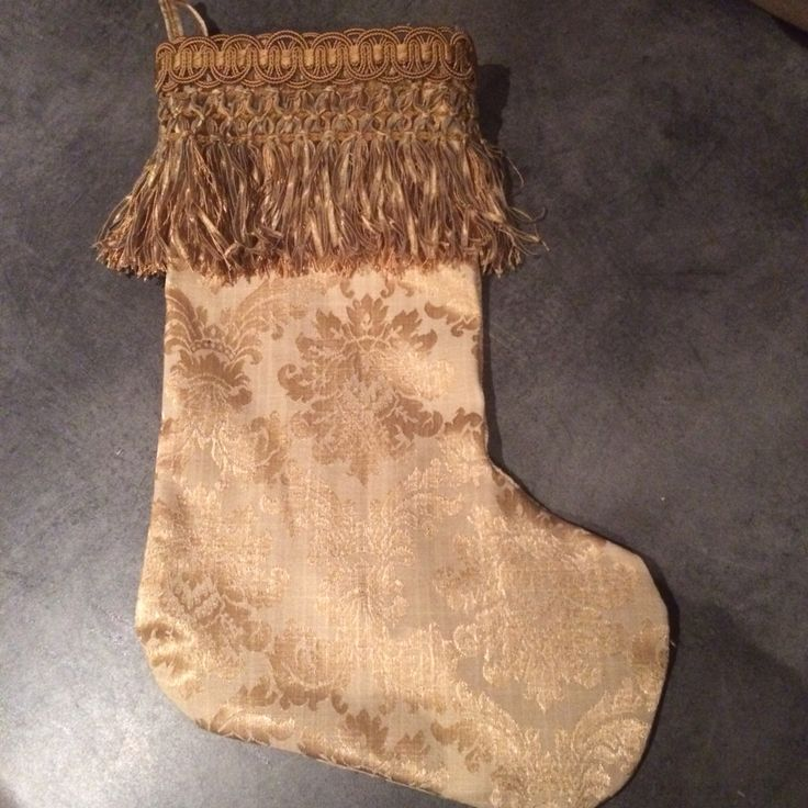 Luxury Christmas Stocking with a lovely frill. Each took about 1.5 hours due to some hand sewing. Fabric & frill are from Michael Guiney - each stocking was about €4 to make
